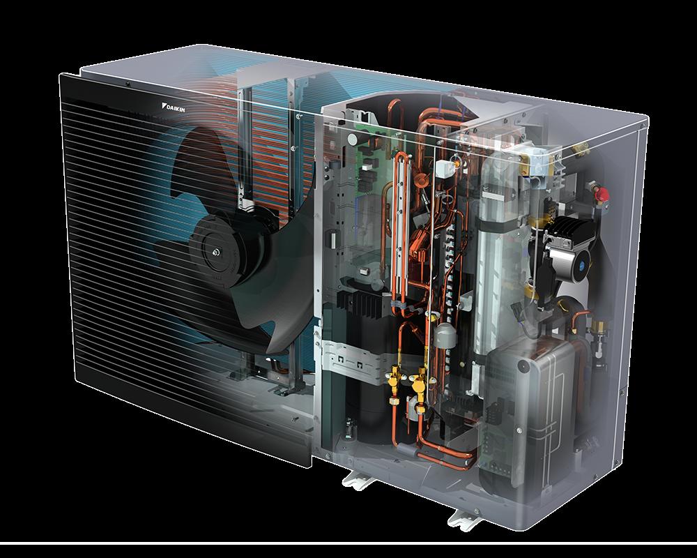 Air Con Unit Daikin Heating Heat Pump HVAC Install Cooling